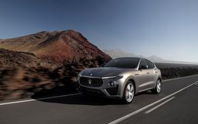 Picture road, machine, mountains, markup, crossover, Maserati Levante Vulcano
