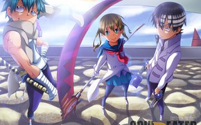 Picture girl, anime, art, guys, Soul eater, characters, Soul Eater