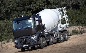 Picture truck, Renault, four-axle, concrete mixer, Renault Trucks, C-series