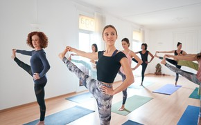 Picture girls, pose, yoga