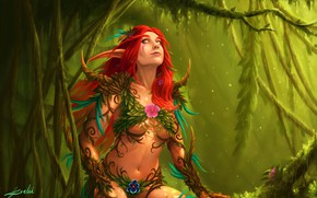 Picture The game, Forest, Style, Elf, World of Warcraft, Fantasy, Warcraft, Blizzard, Elf, Art, Art, Style, …