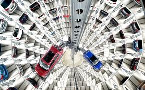 Picture car, elevator, car park