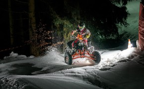 Picture snow, race, ATV