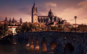 Picture bridge, river, Spain, Puente mayor del Tormes