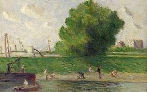 Picture landscape, picture, 1930, Maximilien Luce, Maximilien Luce, The Suburbs Of Paris. Bank Of The Seine