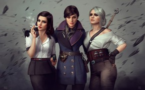 Picture Girl, Girls, The game, Three, BioShock, Art, The Witcher, Sexy, Beauty, Trio, Sexy, Digital Art, …