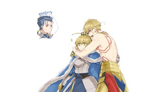 Picture two, Lancer, Gilgamesh, the saber, Fate / Grand Order, The destiny of a great campaign