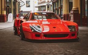 Picture Red, Auto, Machine, Red, Rendering, Sports car, Sportcar, Ferrari F-40, Transport & Vehicles, Rostislav Prokop, …