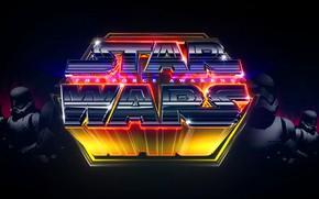 Picture Star Wars, Art, Neon, Stormtroopers, StarWars, The Force Awakens, Star Wars - The Force Awakens, …