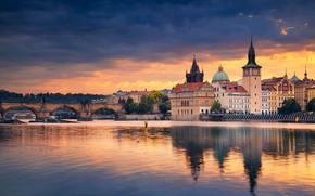 Picture bridge, river, building, home, Prague, Czech Republic, Prague, Charles bridge, Czech Republic, Charles Bridge, Vltava …