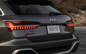 Picture Audi, universal, tail lights, feed, RS 6, 2020, 2019, dark gray, V8 Twin-Turbo, RS6 Avant