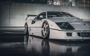 Picture White, Machine, Ferrari, Render, Supercar, Retro, Supercar, Sports car, Sportcar, Science Fiction, Khyzyl Saleem, by …