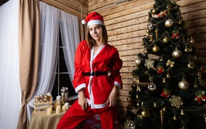 Picture toys, tree, new year, maiden