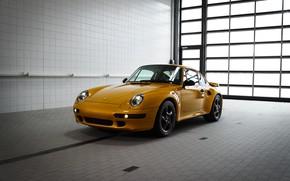 Picture yellow, Porsche, body, 993, 911 Turbo