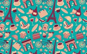 Picture background, blue, texture, Paris, design, Color, pattern, Wallpaper