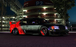 Picture Auto, Night, Machine, Mercedes, Car, Car, Render, W124, Transport & Vehicles, Mercedes-Benz W124, November Tlibekov, …