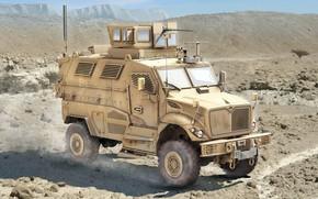 Wallpaper 4x4, APC, MRAP, minestone zastosowany, International MaxxPro, mine resistant ambush protected, protected from undermining and ...