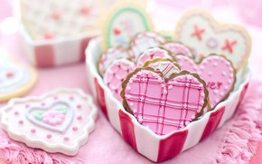 Picture love, heart, cookies, Valentine's day, romantic