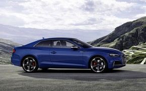 Picture blue, Audi, coupe, Audi A5, side view, Coupe, Audi S5, 2019