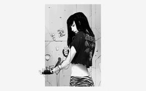 Picture Girl, Illustration, Cyber, Cyberpunk, Showtime, Maciej Kuciara, by Maciej Kuciara, First Aid
