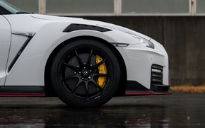 Picture white, Nissan, GT-R, the front part, R35, Nismo, 2019