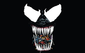 Picture language, monster, mouth, comics, comic, superheroes, Venom, Venom