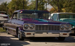Picture Chevrolet, Purple, Impala, Lowrider, Custom