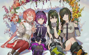 Picture flowers, girls, Girls Frontline, Girls front