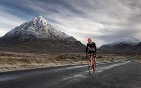 Picture road, bike, mountain