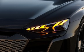 Picture Audi, headlight, the hood, 2018, e-tron GT Concept