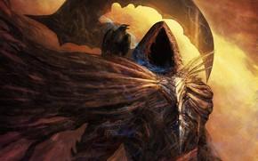 Picture fantasy, art, hood, Raven, Reaper, Reaper