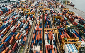 Picture Port, Terminal, Cargo, Container, Container terminal, Cargo operations