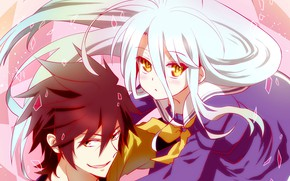 Picture anime, The game, art, girl, Pair, Anime, guy, two, Art, No Game No Life, No …