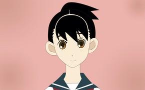 Picture look, girl, portrait, brown eyes, Sayonara Zetsubou Sensei, Farewell bleak Sensei