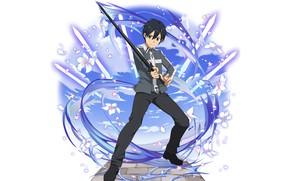Picture sword, guy, Sword Art Online, Kirito, Sword Art Online, Kirigaya Kazuto