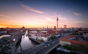 Picture bridge, river, Germany, Berlin