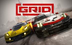 Picture 911, Porsche, Corvette, Chevrolet, GRID, RSR, Codemasters, 2019
