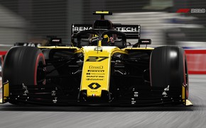 Picture track, racing car, F1 2019, Renault R.S.19