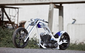Picture Harley Davidson, Chopper, Harley-Davidson, Motorcycle, Flawless, Custom bike, By Thunderbike