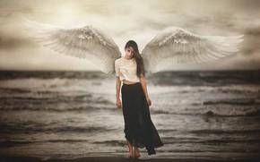 Wallpaper girl, angel, Marya