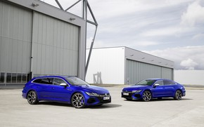 Picture building, Volkswagen, blue, universal, Shooting Brake, liftback, 2020, Arteon, Shooting Brake R, Arteon R