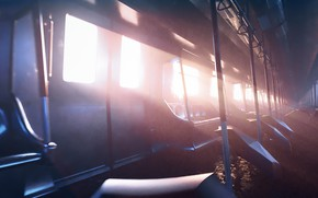 Picture light, train, salon