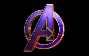 Picture logo, black background, comic, MARVEL, Avengers: Endgame, The Avengers: The Final