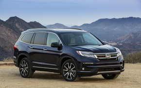 Picture mountains, Honda, SUV, Pilot, Elite, dark blue, 2019