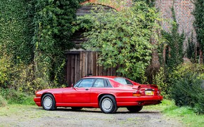 Picture Red, Supercar, Classic car, Jaguar XJR-S