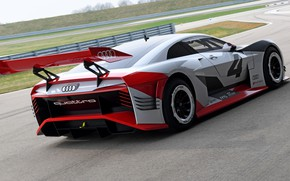 Picture Audi, track, 2018, wing, e-tron Vision Gran Turismo