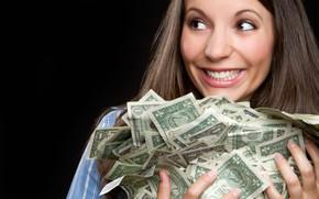 Picture girl, money, dollars
