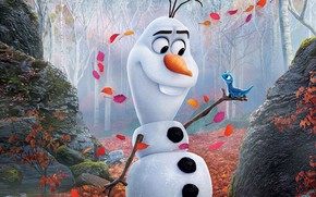 Picture cartoon, cartoon, snowman, Frozen, Cold Heart, Olaf, Olaf, Cold heart 2
