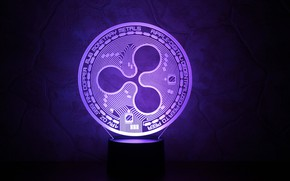 Picture wall, fon, violet, coin, ripple, cryptocurrency, xrp
