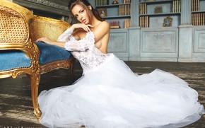Picture look, girl, pose, the bride, wedding dress, Stepan Kvardakov, Yulia Zubova